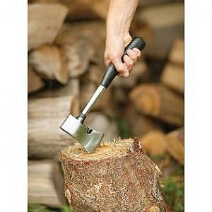 Coleman axe cutting wood