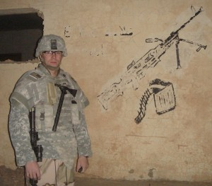 Soldier carrying VTAC in Iraq