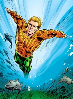 aquaman in the water