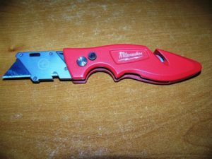 This knife is great for home repairs.