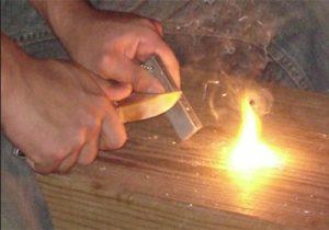 magnesium block - start a fire