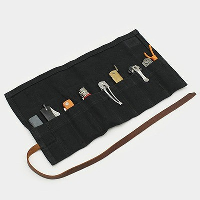 waxed knife roll storage