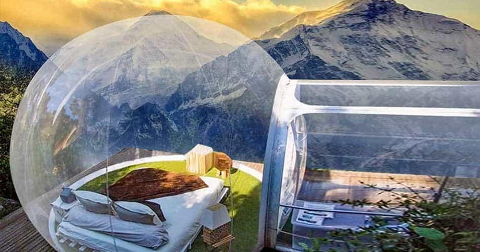 air tent bubble