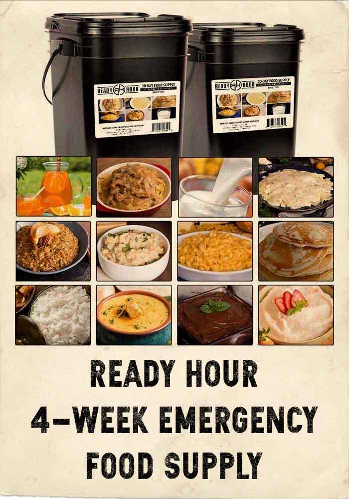 READY HOUR 4-week food supply kit