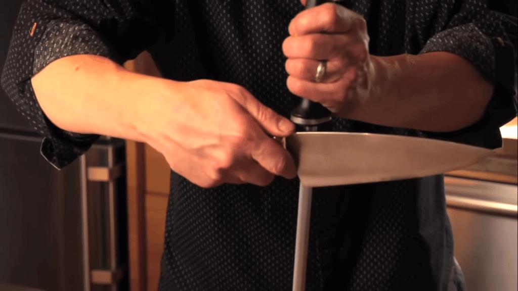 slide knife down rod